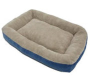 "Micro Luxe Low Bumper Pet Bed, 40"" x30"""