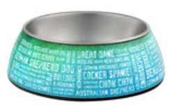 Milano Collection Dog Bowl, Breeds of the World, 16 oz