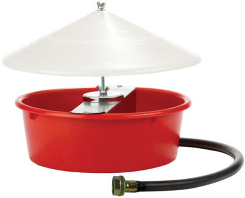 Little Giant Automatic Poultry Waterer w/ Cover, 5 quart