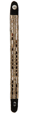 Lettia Crystal Bling Leather Bracelet