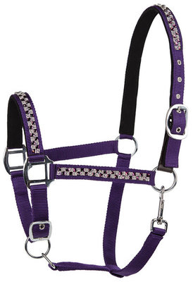 Lettia Square Bling Breakaway Halter, Purple/Clear