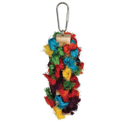 "Mini Preening Block Bird Toy, Multi-color, 3"" X 8"""
