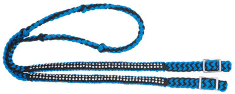 6' Miniature Knotted Competition Reins with Stones