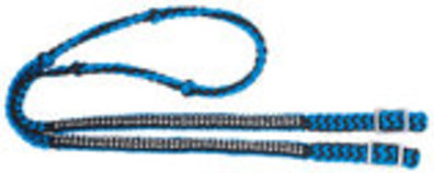 Miniature Knotted Competition Reins with Stones, 6'