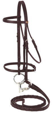 Miniature Raised Snaffle Bridle, Brown