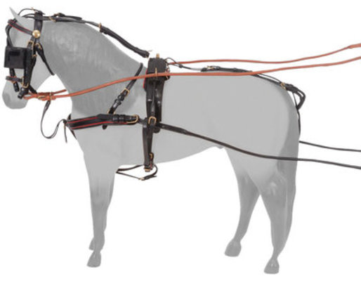 Miniature Silver Royal Leather Show Harness