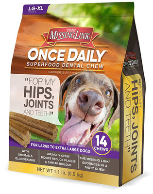 14 ct Large Once Daily Superfood, Hip & Joint Dental Chew