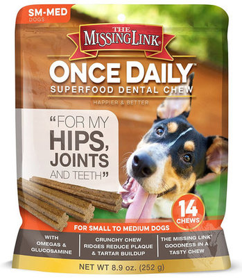 Missing Link Once Daily Superfood, Hip & Joint Dental Chews