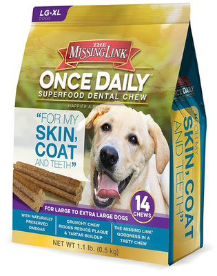 14 ct Lg Once Daily Superfood, Skin & Coat Dental Chew
