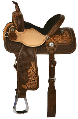 Molly Powell Classic Cowgirl Barrel Saddle, Regular Tree, Vintage