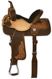 Molly Powell Classic Cowgirl Barrel Saddle, Wide Tree, Vintage