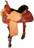 Molly Powell Traditions Cowgirl Barrel Saddle, Regular Tree, Mahogany
