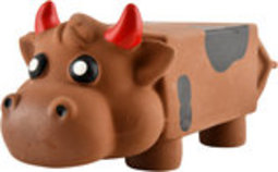 Moo Mates Latex Milk Carton Cow Dog Toy