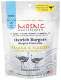Mosaic Ostrich Burgers Exotic Dog Treats
