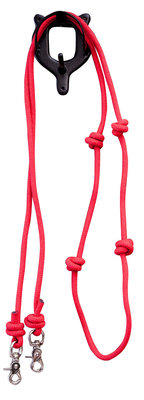 Mountain Rope 8' Knotted Barrel Rein, Red