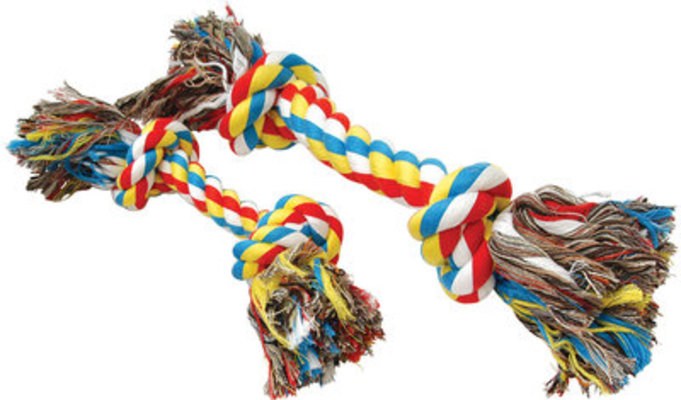 Multicolored Rope Bone