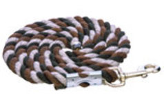 "Assorted Color Cotton Lead Ropes, 1/2"" x 6'"