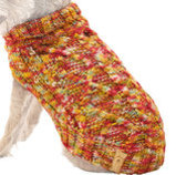 Crochet Dog Sweaters for Large Dogs, Multi-Colored