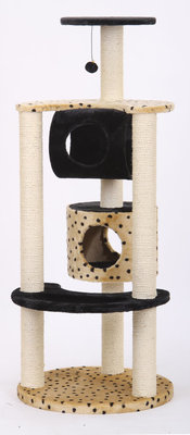 Multi-Level Leopard Print Cat House