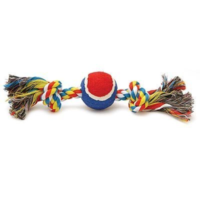 Multi-Colored Rope Bone with Ball, 12""