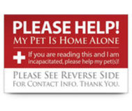 My Pet Is Home Alone! Wallet Cards