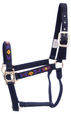 Native American Beaded Nylon Halter