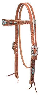 Native Spirit Browband Headstall, Brown