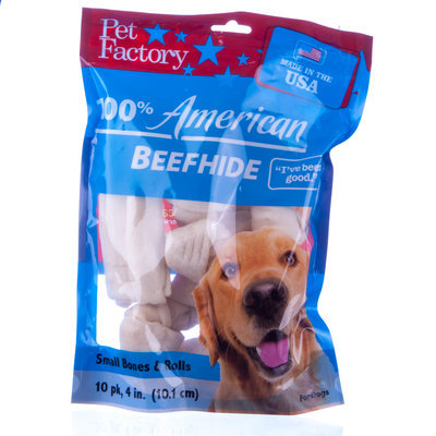 "4-6"" Natural Beefhide Chews,10-Pack"