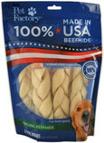 "100% American Beefhide 6"" Natural Braids, 6-Pack"