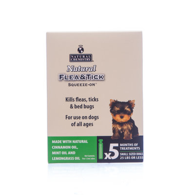 Natural Flea & Tick Squeeze-On, 5-pack