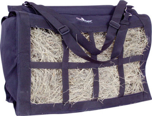 Navy Top Load Hay Bag