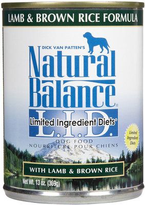Lamb and Brown Rice Canned Dog Food