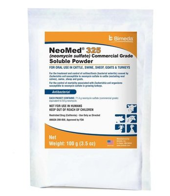 NeoMed 325 (Neomycin Sulfate) Soluble Powder, 100 gram