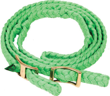 "Neonz Flat Braided Knotted Barrel Rein, 3/4"" x 8'"