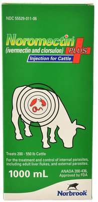 Noromectin Plus Injection, 1000 mL (1 L)