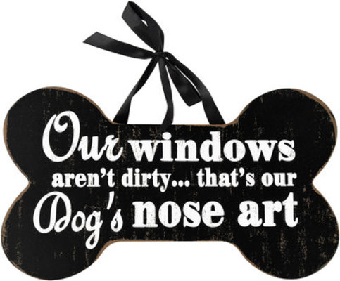 Nose Art Bone-Shaped Sign