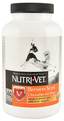 Nutri-Vet Brewer's Yeast Garlic Flavored Chewables, 500 ct