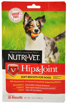 Nutri-Vet Grain-Free Hit & Joint Soft Biscuits for Dogs
