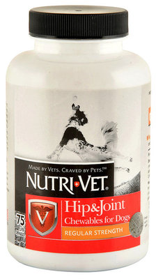 Nutri-Vet Hip & Joint Regular Strength Chewables for Dogs