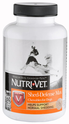 Nutri-Vet Shed Defense Max Chewables for Dogs