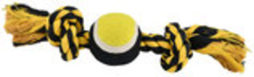 Nuts for Knots 2 Knot Rope with Tennis Ball, Assorted, 10""