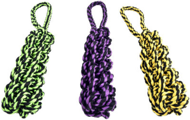 Nuts for Knots Rope Tug with Braided Stick, 16""