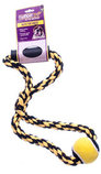 Nuts for Knots Rope Tug with Handle and Tennis Ball, Assorted, 14""