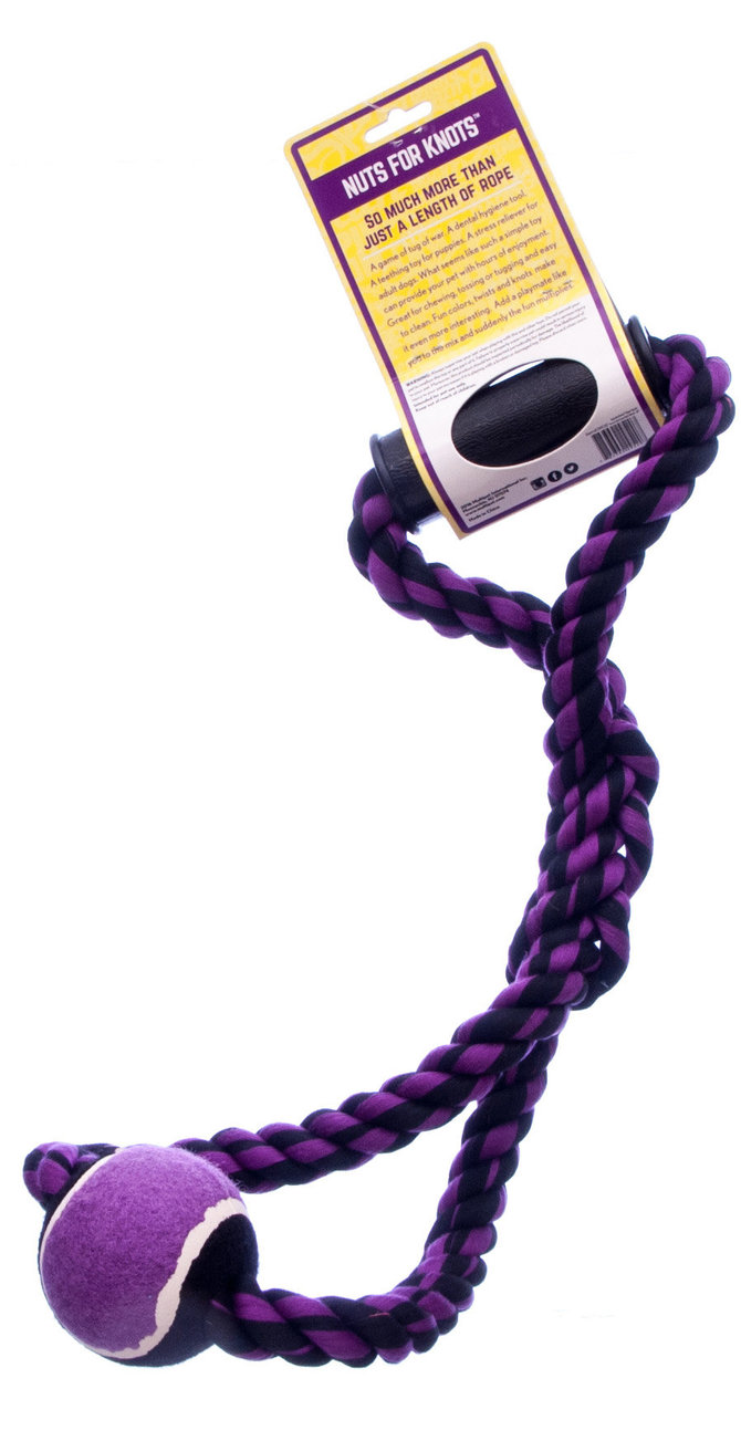 Nuts for Knots Rope Tug with Handle and Tennis Ball
