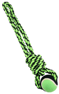 Nuts For Knots Rope Tug with Tennis Ball, 20""