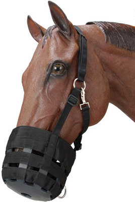 Pony Grazing Muzzle, Black