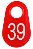 Red Numbered Nylon Tags, Pack of 25