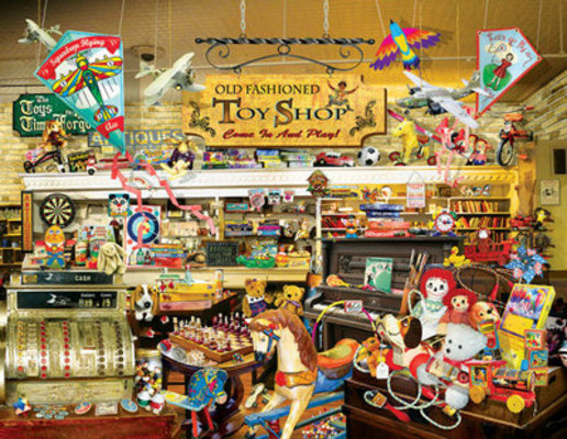 Old Fashioned Toy Shop Jigsaw Puzzle, 1000+ Pieces