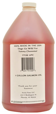 Gallon Yummy Chummies Wild Alaska Salmon Oil