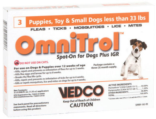 Omnitrol, Small Dog (under 33 lbs) 3-month supply